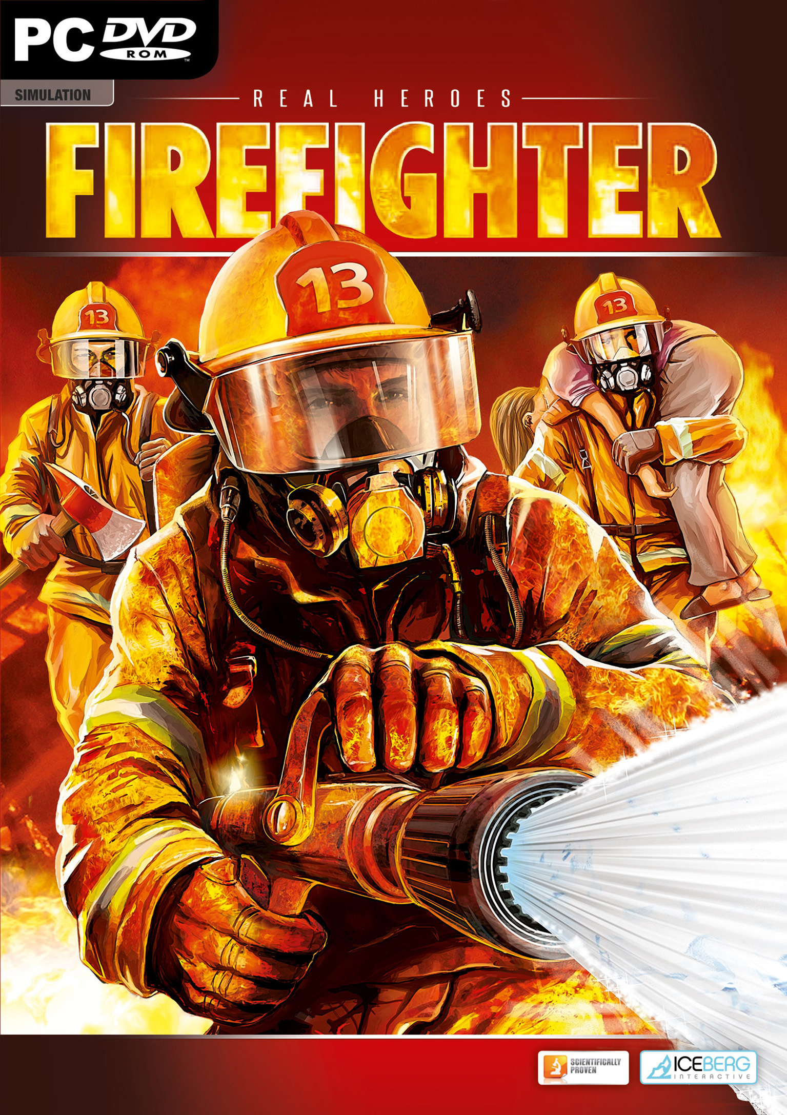 Real Heroes: Firefighter - predný DVD obal