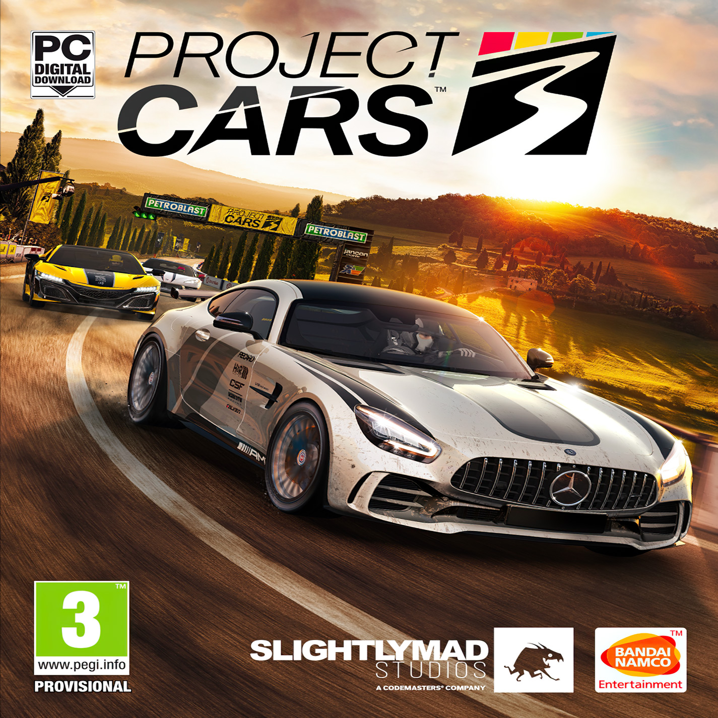 Project CARS 3 - predný CD obal