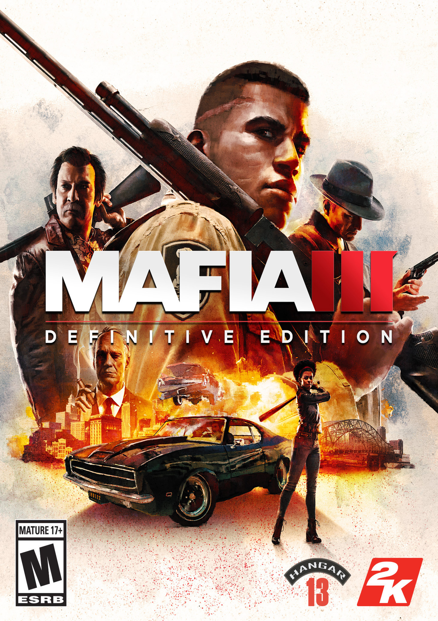 Mafia III: Definitive Edition - predný DVD obal