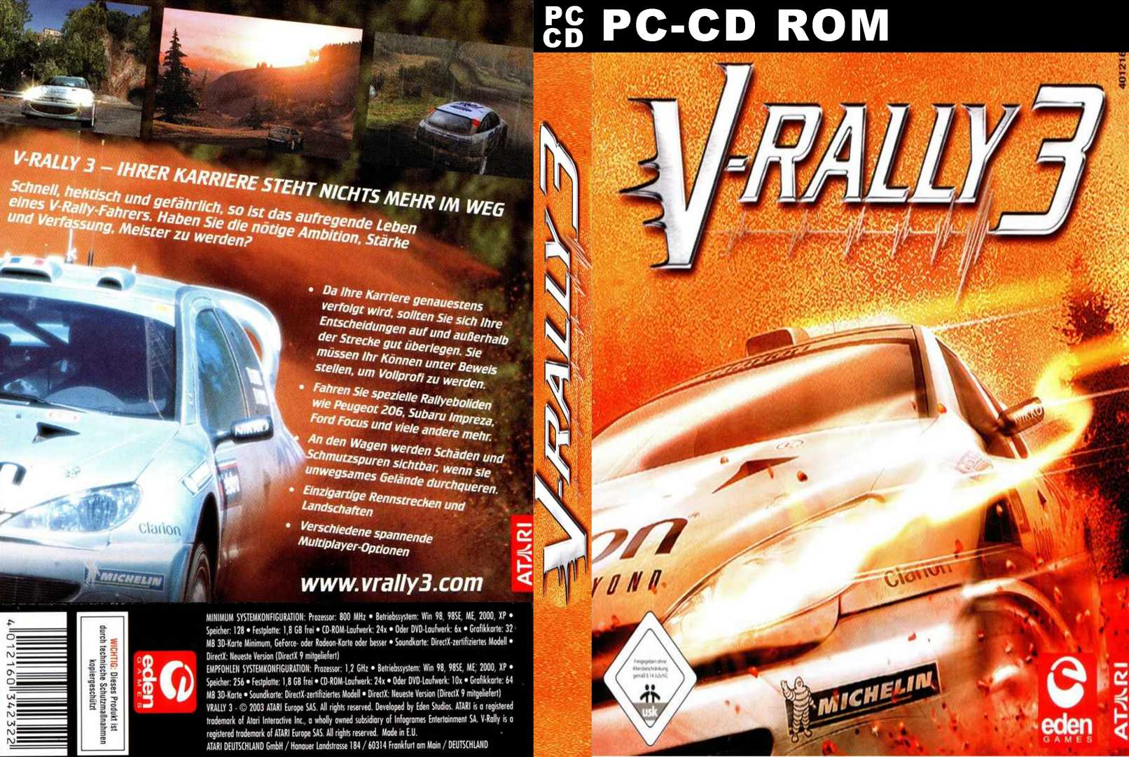 V-Rally 3 - DVD obal